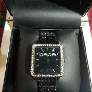 Bebe Blinged out Square Face watch. BRAND NEW